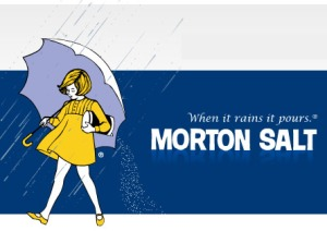 Modern Morton Salt print ad.Feels fresh, but respectful to the brand's history.