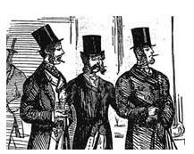 Fine gentlemen enjoying a fine toothpick
