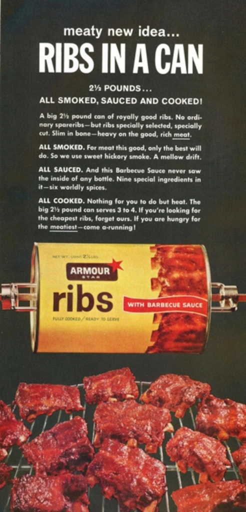 ribs in a can