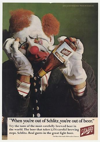 schlitz clown